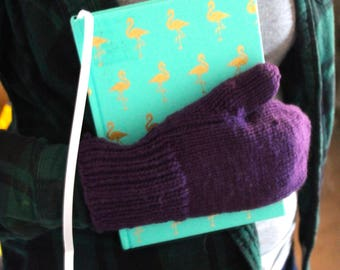 Dual Colour Hand-Knit Hat and Mittens
