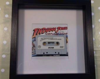 Framed Indiana Jones Spectrum 48k cassette.