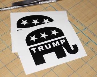 Republican Trump Decal     Republican elephant sticker