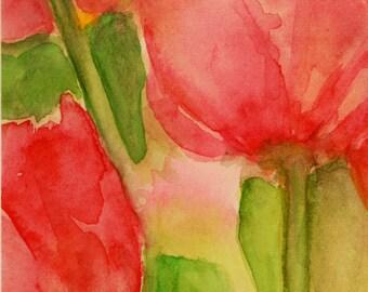 Dream Flowers - Original Watercolor