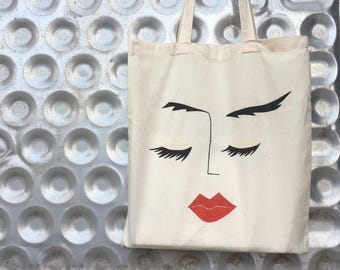 "Art Tote Bag ""Faces, 1"""