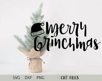 Merry Grinchmas Christmas SVG Cut File Cricut Cutting File Free Commercial Use