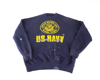 Us navy sweater | Etsy
