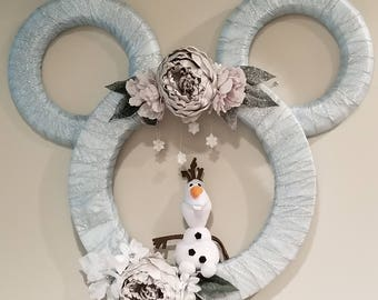 Frozen Christmas Wreath