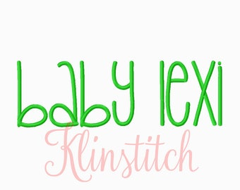 50% Sale!! Baby Lexi Embroidery Fonts 5 Sizes Fonts BX Fonts Embroidery Designs PES Fonts Alphabets - Instant Download