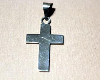 Vintage Taxco Sterling Cross Pendant