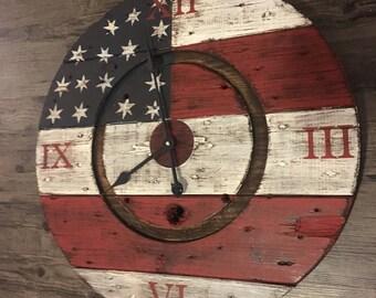 Americana spool clock