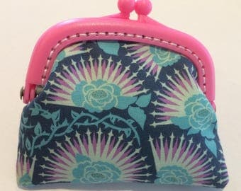 Pink and Blue Coin Purse