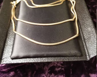 Vintage Sarah Coventry signed Gold Snake Chain