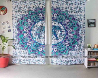 Mandala Curtains Boho - Dewi Elephant Small