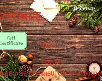 Christmas Lipsense Gift Certificates