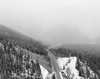 Banff National Park PRINT Black and White PHOTOGRAPH