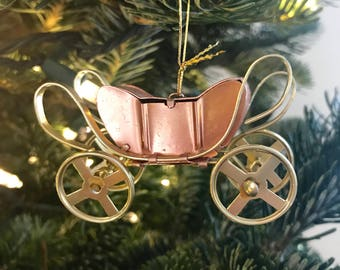 Bronze and Gold Chariot, Carriage Christmas Tree Ornament
