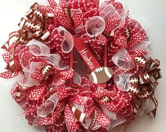 Nebraska Cornhusker Wreath, Cornhusker Wreath, Husker Wreath, Nebraska Wreath, Huskers, Husker Football Wreath, Game Day Celebration, GBR