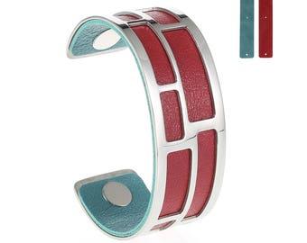 Silver Medium Maze Cuff Bracelet