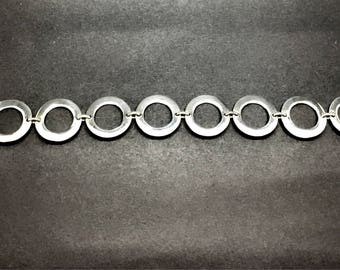 Bracelet Silver Links Hoop