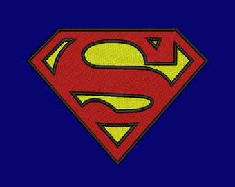 Superman Embroidery design 11 Size INSTANT download machine embroidery