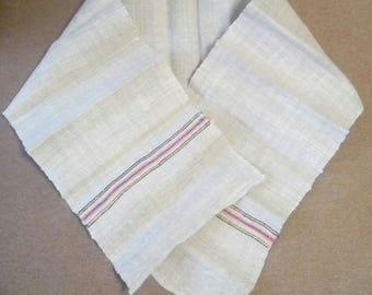 Vintage organic linen towel, kitchen towel, Rustic towel, pure flax linen towel, 40-50s