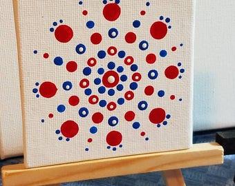 """3"""" Canvas Mendalla Art magnet"""