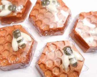 Honey Bee Shimmer Bar Soap