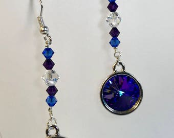 Handmade Swarovski earrings