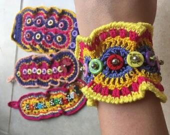 Crochet Cuff Bracelet Boho bracelet