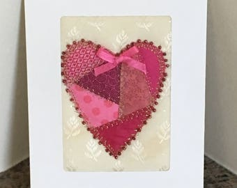 Valentine Heart Patchwork Greeting Card