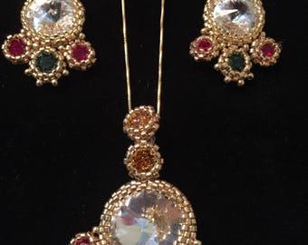 Swarovski earrings and pendant
