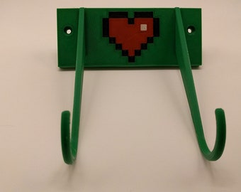 8-Bit Heart Xbox One Wallmounted Controller stand
