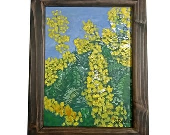 Yellow Flowers with frame