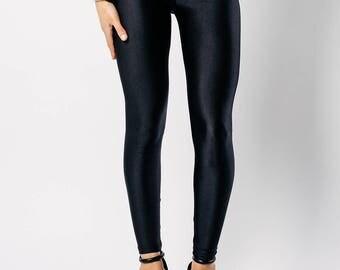 Black Disco Leggings - Size 14