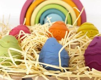 Easter egg crayons, easter basket, easter gift, easter crayons, egg shapes crayons, dairy free gift, Easter egg crayons