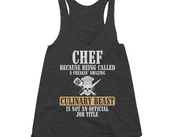 Chef Culinary Racer Back Tank Top Gift, Chefs, Culinary, Culinary Students, , Chef Cooking Gift, Chef Culinary Beast , Ladies Active Tank