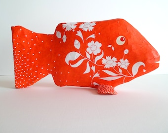 fish with neon orange flowers