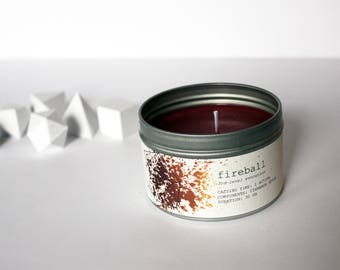 Fireball Spell Candle