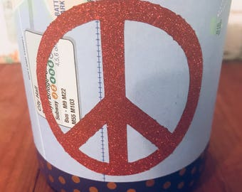 "NYC Subway Map  ""Peace"" Hand-Poured Soy Wax Candle"