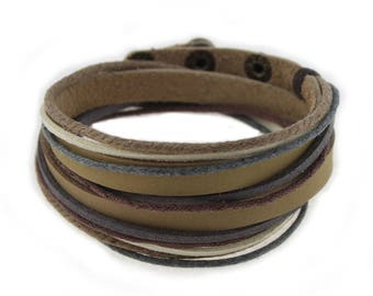 C0701 Unisex Tribal Brown Leather Bracelet ,Mens Leather Bracelet , Womens Leather Bracelet For Her Birthday Gift