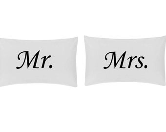 Mr & Mrs - Mr/Mr - Mrs/Mrs pillowcase sets