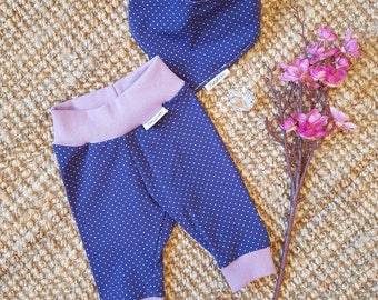 Baby Trousers & Scarf set gr. 56