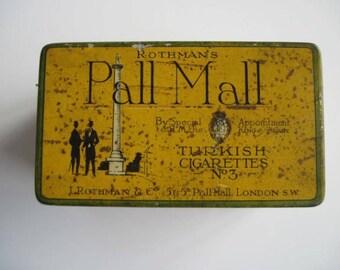 100 tin Pall Mall Turkish cigarettes