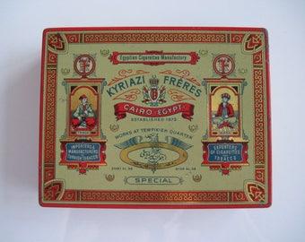 Kyriazi Freres Special Egyptian cigarettes tin (100/empty) c.1920