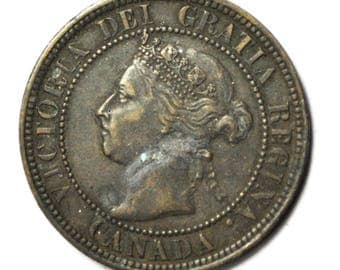 1898 H 1c Canada One Large Cent KM7