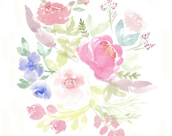 Flowers & Feathers Print