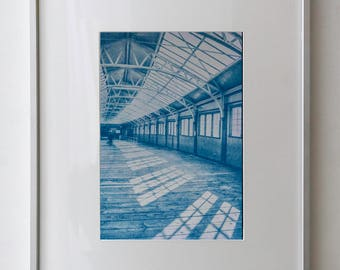 Wemyss Bay Ferry Terminal/Isle of Bute/Scotland/Cyanotype Print