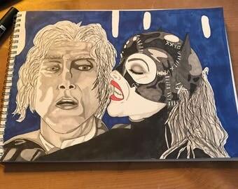 Batman Returns fan art, Catwoman, max shreck