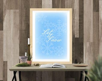 Let It Snow printable wall art poster instant download