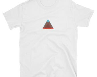 Two colors triangle t-shirt-logo shirt-designer-personalized-clean-concise