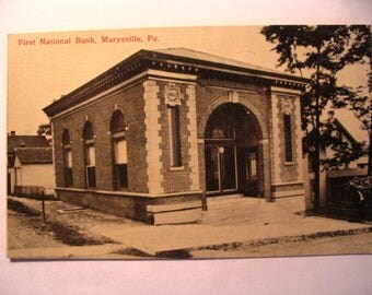 Postcard of: First National Bank in Marysville PA