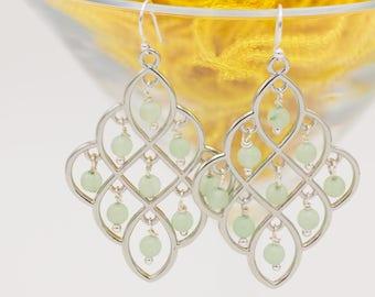 Seafoam Green Chandalier Earrings