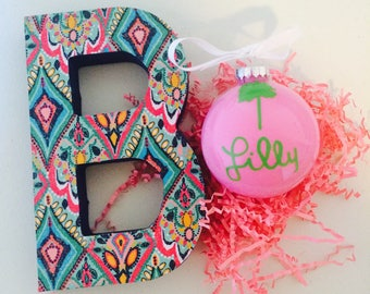 Lilly Pulitzer inspired Wooden Letter